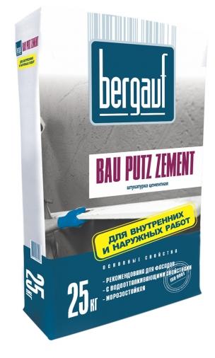 Цементная штукатурка Бергауф Бау Путц Цемент (25кг)