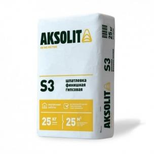 Финишная гипсовая шпатлевка АКСОЛИТ S3 (25кг)