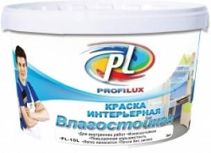 Краска латексная влагостойкая супербелая Профилюкс PL-10L (14кг)