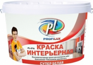 Краска акриловая влагостойкая супербелая Профилюкс PL-07 A (40кг)