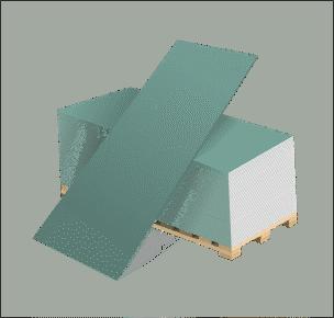 Гипсокартон влагостойкий ГКЛВ 12,5мм(1,2*2,5м)Волма