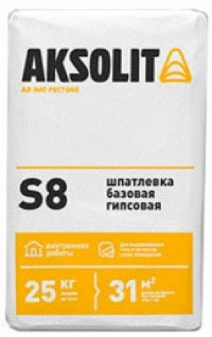 Базовая гипсовая шпатлевка АКСОЛИТ S8 (25кг)