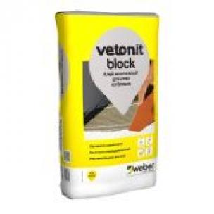 Клей для газобетонных и пенобетонных блоков Ветонит Блок (25кг)