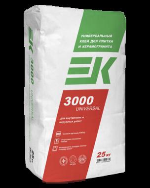 Клей  ЕК 3000 (25кг) плиточный клей