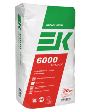 Клей ЕК 6000 MOZAIK (20кг) плиточный клей