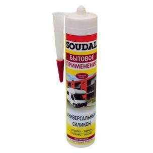 Герметик Соудал санитарный силиконовый белый (300мл)