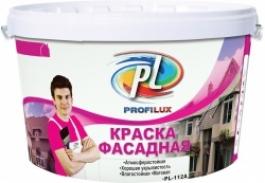 Краска фасадная влагостойкая белая Профилюкс PL-112 А (40кг)