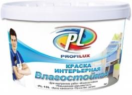 Краска латексная влагостойкая супербелая Профилюкс PL-10L (40кг)