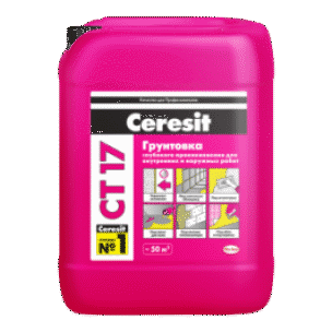 Грунтовка глубокого проникновения Ceresit CT17 (5л)