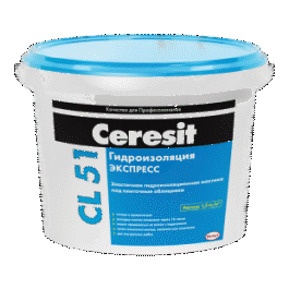Эластичная гидроизоляционная мастика Ceresit CL51(5кг)