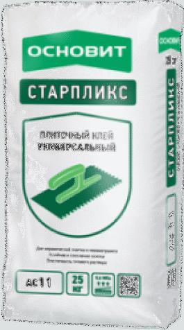Клей плиточный Основит СТАРПЛИКС АС11 (Т11) (25кг)