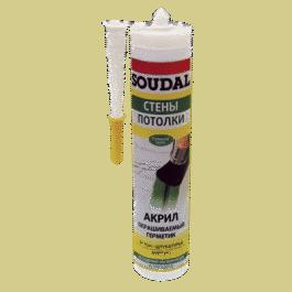 Герметик Соудал акриловый окрашиваемый белый (300мл)