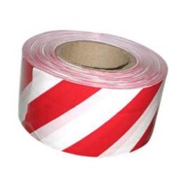 Лента сигнальная бело-красная (70мм*200м)