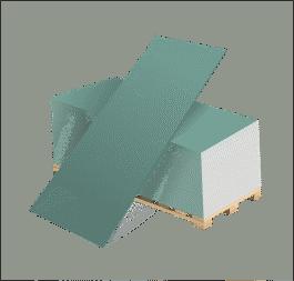 Гипсокартон влагостойкий ГКЛВ 9,5мм(1,2*2,5м)Волма