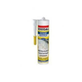 Герметик Соудал нетральный силиконовый белый (300мл)