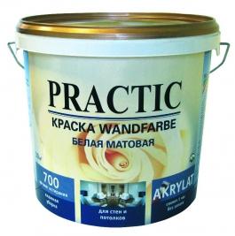 Краска водно-дисперсионная Практик Wandfarbe (5л)