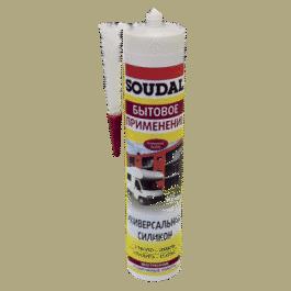 Герметик Соудал универсальный силиконовый белый (280мл)